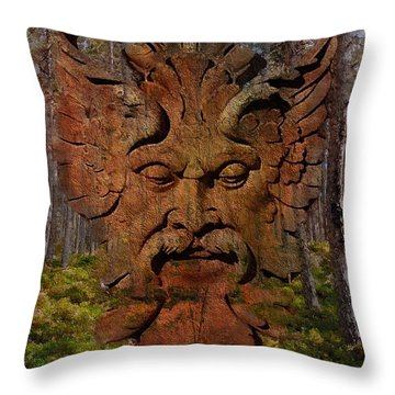 Green Man Of The Forest 2016 Throw Pillow