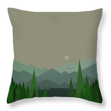 Green Mist - Verical Throw Pillow