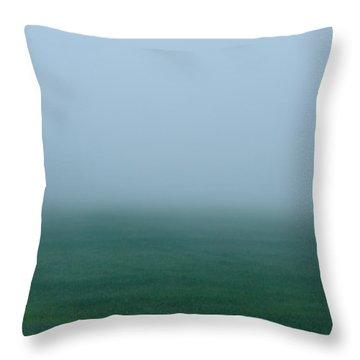 Green Mist Wonder Throw Pillow