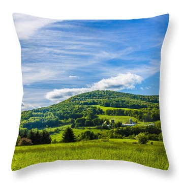 Throw Pillow featuring the photograph Green Mountains And Blue Skies Of The Catskills by Paula Porterfield-Izzo