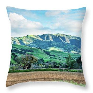 Green Mountains Throw Pillow