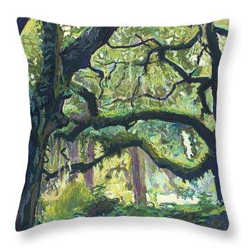 Green Oaks Throw Pillow
