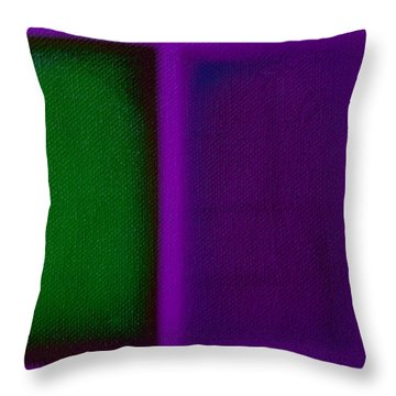 Green On Magenta Throw Pillow