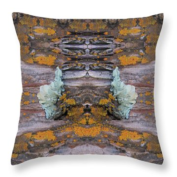 Green Oriental Princesses Meet Throw Pillow