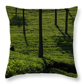 Green Paradise Throw Pillow