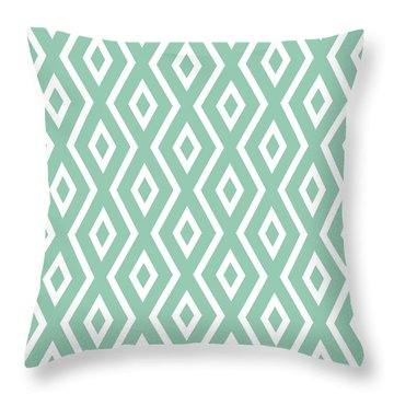 Light Sage Green Pattern Throw Pillow