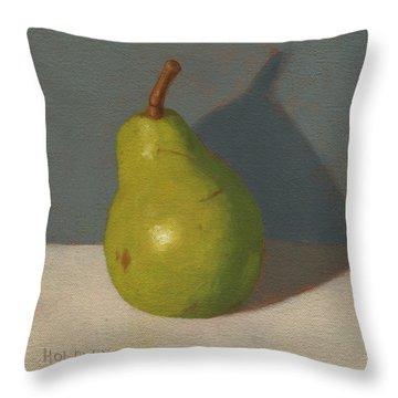 Green Pear Throw Pillow