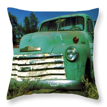 Green Pickup Truck 1959 Throw Pillow