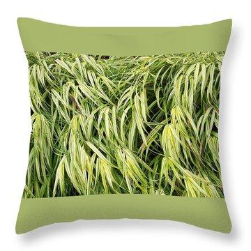 Green Plants Throw Pillow