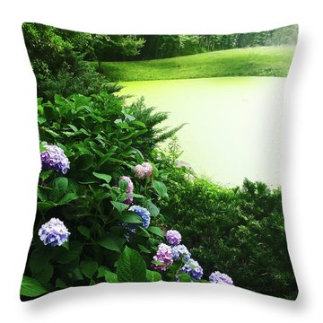 Green Pond Throw Pillow