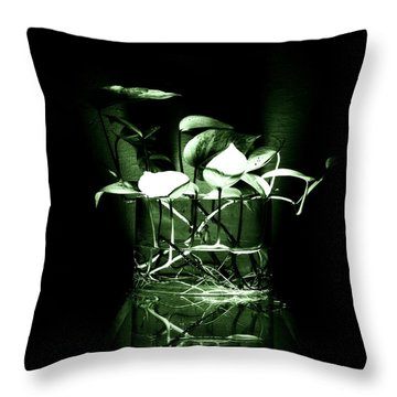 Green Throw Pillow by Rajiv Chopra