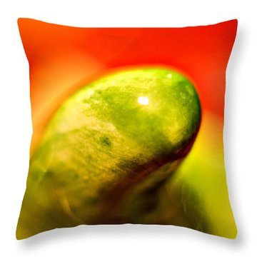 Green Red Liquid Clay Throw Pillow