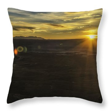 Throw Pillow featuring the photograph Green River Flair  by Bitter Buffalo Photography