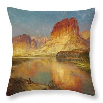 Green River Of Wyoming Throw Pillow by Thomas Moran