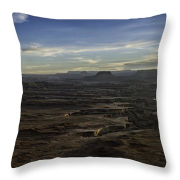 Throw Pillow featuring the photograph Green River Overlook by Bitter Buffalo Photography