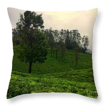 Green Scene Throw Pillow