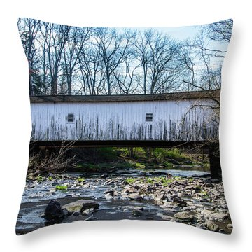 Throw Pillow featuring the photograph Green Sergeants Bridge by Bill Cannon