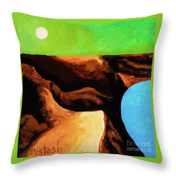 Green Skies Throw Pillow