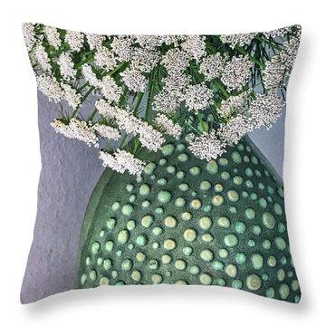 Green Slip Still Throw Pillow