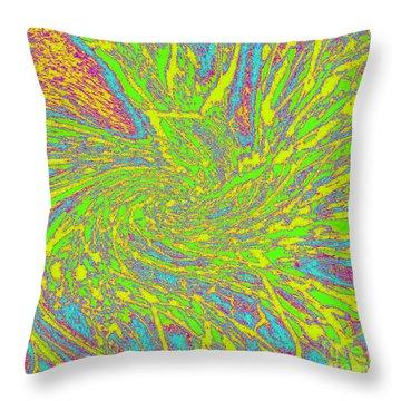 Green Spider Web Throw Pillow