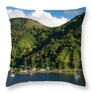 Green St Lucia Throw Pillow