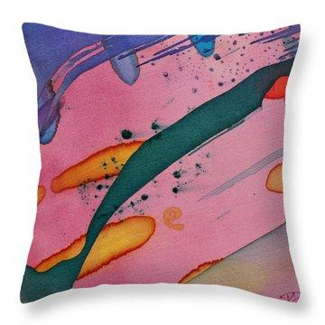 Green Stripe Throw Pillow
