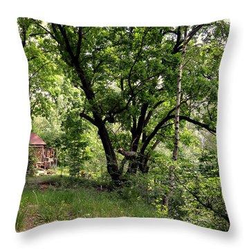 Green Summer Throw Pillow by Henryk Gorecki