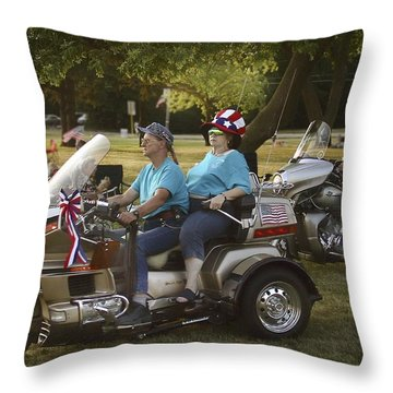 Green Sunglasses Throw Pillow by John Hansen