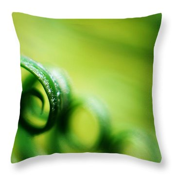 Green Tides Throw Pillow by Catherine Lau