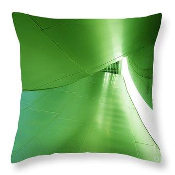 Throw Pillow featuring the photograph Green Tunnel. Los Angeles Series. by Ausra Huntington nee Paulauskaite