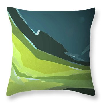 Throw Pillow featuring the digital art Green Valley by Gina Harrison