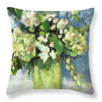 Green Vase Throw Pillow