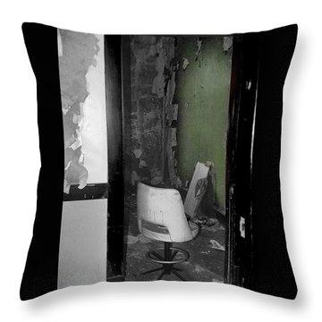 Green Wall Throw Pillow