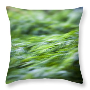 Throw Pillow featuring the photograph Green Waterfall 1 by Serene Maisey