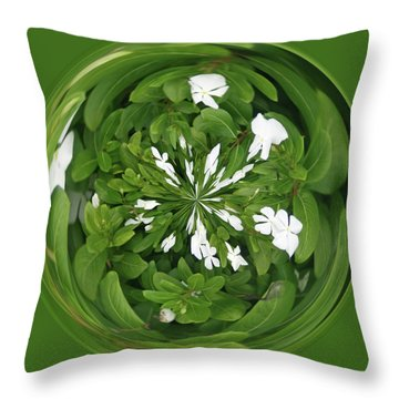 Throw Pillow featuring the photograph Green-white Orb by Bill Barber