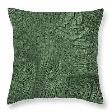 Green Wind Throw Pillow