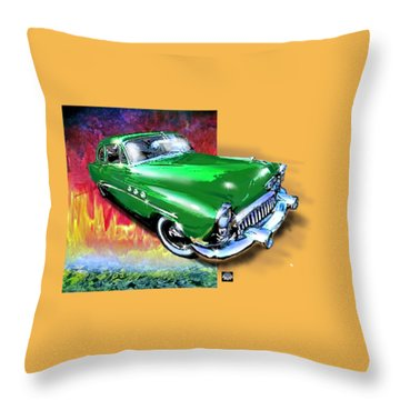 Green With Envy Throw Pillow