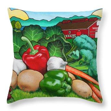 Broccoli Throw Pillows