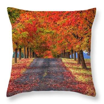 Greenbluff Autumn Throw Pillow