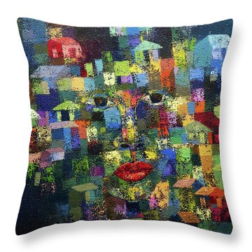 Greener Where You Are Throw Pillow