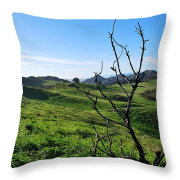 Throw Pillow featuring the photograph Greenery In The Hills Landscape by Matt Harang