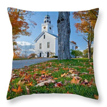 Greenfield Church Throw Pillow