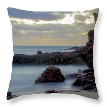 Throw Pillow featuring the photograph Greenglades Beach Morning by Angela DeFrias