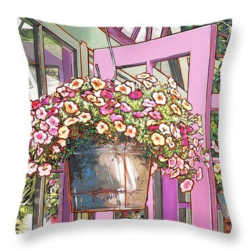 Greenhouse Doors Throw Pillow by Nadi Spencer