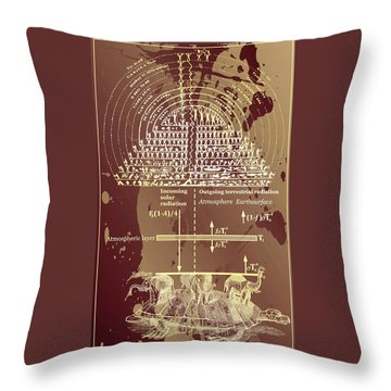 Throw Pillow featuring the digital art Greenhouse Effect Mythology by Robert G Kernodle