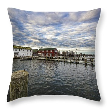 Greenport Dock Throw Pillow