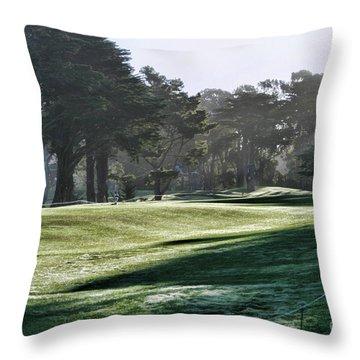 Greens Golf Harding Park San Francisco  Throw Pillow