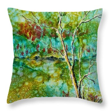 Greens Of Late Summer Throw Pillow