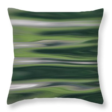 Greens Of Spring Throw Pillow