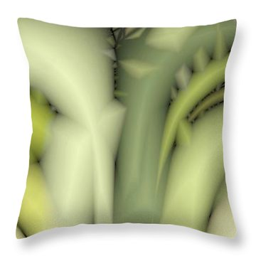 Greens Throw Pillow by Ron Bissett